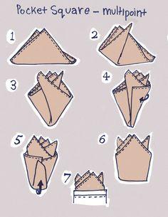 How to achieve a multipoint #pocket #square. #MensFashion #men #menswear #fashion