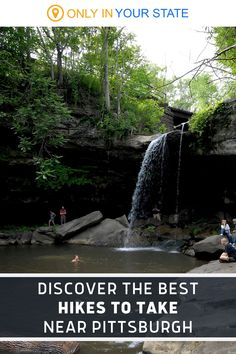 Discover the best local hiking trails near Pittsburgh, Pennsylvania. These trails are fun, easy, and family-friendly! One offers a beautiful waterfall swimming hole. Escape the city for a scenic day trip in nature. Local Hiking Trails, Ohiopyle State Park, Pleasant Valley, Autumn Park, Swimming Holes, Beautiful Waterfalls, Best Hikes, House In The Woods, Day Trip