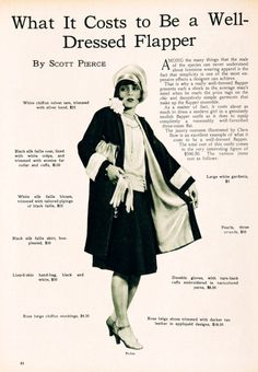 #lulufrost, #letsbringback What It Costs to Be a Well-Dressed Flapper
