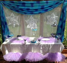 """Princess birthday Party Ideas- """"Frozen Inspired"""" Queen Frostine Tutu Princess Party. Coming July 2014 to http://www.myprincesspartytogo.com"""