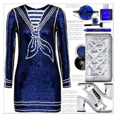 """Nautical"" by dragananovcic ❤ liked on Polyvore featuring Ashish, STELLA McCARTNEY, Revlon, By Terry, Kenzo, Jack Black, Nautical, summerstyle, polyvoreeditorial and summer2016"