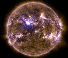 nasa photo  biggest solar flair so far 4/11/13