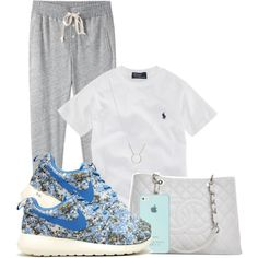 Nike Roshe Run by aria-97 on Polyvore featuring polyvore, fashion, style, Steven Alan, Chanel, Dogeared and Ralph Lauren