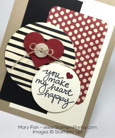 Stampin Up Lovely Amazing You Sweetheart Punch Mojo Monday By Mary Fish