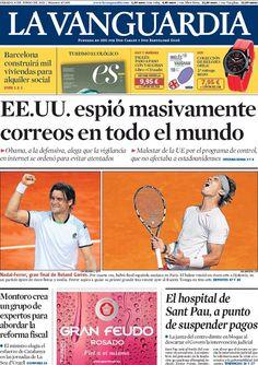 Los Titulares y Portadas de Noticias Destacadas Españolas del 8 de Junio de 2013 del Diario La Vanguardia ¿Que le parecio esta Portada de este Diario Español?