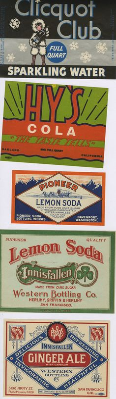 Vintage Soda Labels — Americana's Finest. Clicquot Club is my favorite.