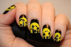 Black And Yellow Ruffian Spooky Houses