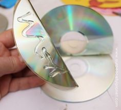 Burger/Taco Napking Holder From CD or DVDs