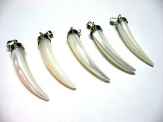 Mother+of+Pearl+Tusk+Pendant+Horn+Bone+Claw+Shaped+by+aversionx,+$1.99 ★★★ TUSK = ELEPHANT = MASCOT = ROLL TIDE!!!