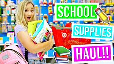 Back to School Supplies Haul!! Alisha Marie