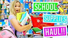 Back to School Supplies Haul!! Alisha Marie