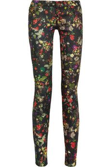 The Looker floral-print skinny jeans by Mother.