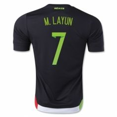 Mexico national team 2015 M.Layun #7 Home Black Soccer Jersey [B24]