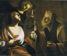Francesco Rustici, said Rustichino Sant'Agata visited by St. Peter in Prison, 1630 ca. Catania, Catholic, Mona Lisa, Artwork, Painting, Prison, Medicine, Paintings, Temple