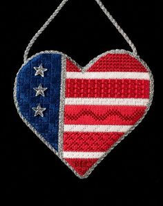 American Needlepoint Guild patriotic heart