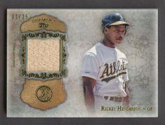 2013 Topps Five Star Rickey Henderson HOF Bat 1/25 Oakland A's #BaseballCards Rickey Henderson, Oakland Athletics, Five Star, Trading Cards, Athlete, Baseball Cards, Stars, Mint, Ebay