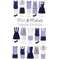 Capsule Wardrobe: Navy and Lavender by mary-grace-see on Polyvore featuring moda, ..,MERCI, Brave Soul, Manon Baptiste, Dorothy Perkins, Lands' End, Jacques Vert, Paule Ka, New Look and Burberry