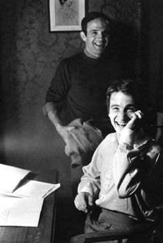 François Truffaut and Jean-Pierre Léaud
