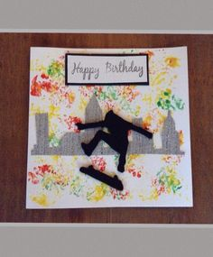 Skateboarder birthday card Ideal for a teenager boy
