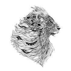 Zentangle, lion tattoo design, tattoo designs, lion design, new tattoos Lion Tattoo Design, Lion Design, Tattoo Designs, Tribal Lion Tattoo, Lion Chest Tattoo, Design Tattoos, Design 24, Trendy Tattoos, New Tattoos
