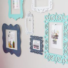 Wooden Frames Gallery Wall