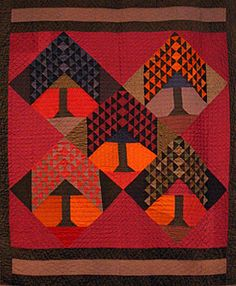 Same color combination as the other amish quilt. I wonder if they were from the same community?