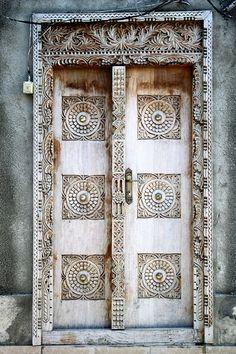 Stone Town, Zanzibar   Grace Olguin Beautiful, intriguing door, fit for a Goddess to walk through.   ..rh