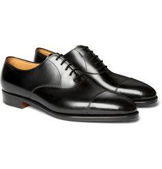 JOHN LOBB II Leather Oxford Shoes in Black $1,340.00 USD