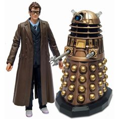 The Tenth Doctor with 'weathered' Crucible Dalek from THE STOLEN EARTH.