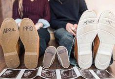 Second Pregnancy Announcement with Shoes - Schwanger baby Geburtsanzeige, Baby Announcement Shoes, Second Pregnancy Announcements, Creative Pregnancy Announcement, Pregnancy Photos, Pregnancy Tips, Announce Pregnancy, Pregnancy Memes, Pregnancy Clothes, Second Child Announcement