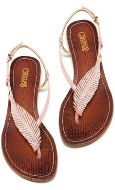 Feather sandals! I have these and I absolutely love them!!!