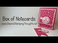 Box with Note Cards using Sale a Bration Perfect Pairings stamp set from Stampin'Up! - YouTube