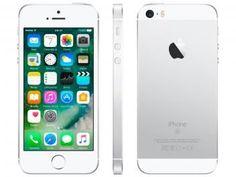 "iPhone SE Apple 128GB Prateado 4G Tela 4"" - Retina Câm. 12MP iOS 10 Proc. Chip A9 Touch ID"