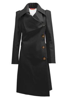 Classic Black Melton Coat by Vivian Westwood