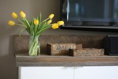 IKEA Hack: Angie's DIY Rustic Modern Entertainment Center Created from...Kitchen Cabinets! » Curbly | DIY Design Community