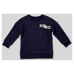 Not all heroes need a spandex suit to be super. The Afton Street Hero Sweatshirt is a comfy outfit for school days, lazy days and everything in between. The speckled knit fabric design offers a stylish outwear option, and the convenient front kangaroo pocket lets him warm his hands or store anything he needs to be heroic.