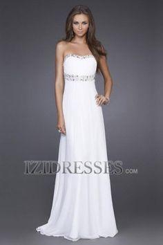 Sheath/Column Strapless Sweetheart Chiffon Prom Dresses