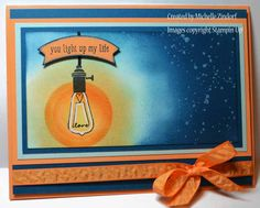 You Light Up My Life – Stampin' Up! Card created by Michelle Zindorf for the Pun Intended Stamp Set