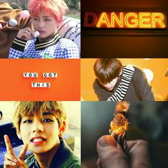 Orange BTS V aesthetic