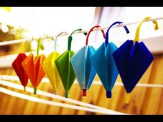 How to make a paper umbrella origami - YouTube