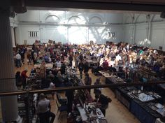 Stalls at Adams Antiques Fair, the Royal Horticultural Halls. The fair was initially established in the 1970's and regularly attracts buyers from across the world