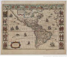 Americae nova tabula. Willem Janszoon Blaeu. 1635. National Library Of Franc