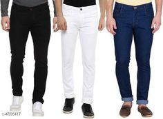 Jeans Trendy Jeans For Men Fabric: Cotton Multipack: 3 Sizes: 34 (Waist Size: 32 in Length Size: 40 in)  36 (Waist Size: 36 in Length Size: 40 in)  28 (Waist Size: 26 in Length Size: 40 in)  30 (Waist Size: 28 in Length Size: 40 in)  32 (Waist Size: 30 in Length Size: 40 in) Country of Origin: India Sizes Available: 26, 28, 30, 32, 34, 36   Catalog Rating: ★4.1 (2291)  Catalog Name: Davina Fashionista Men Jeans CatalogID_700604 C69-SC1211 Code: 2051-4806417-7914