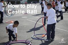 Castle Ball is a super fun dodgeball-style game, in which players are challenged to knock over others' hula hoop structures by throwing soft balls and rebuild their own structures when knocked over.