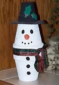 Snowman Made With Clay Pots - Bing Images