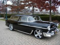 1955 Chevy Nomad.  Very fine ride,  With little modification it could be a splendid hearse.