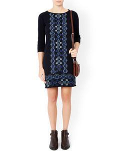 Julia jacquard embroidered dress