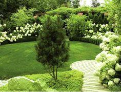 white flowers moon garden