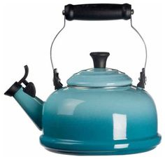 Le Creuset Enamel on Steel 1.8-Quart Whistling Tea Kettle - traditional - coffee makers and tea kettles - by Chef's Corner Store