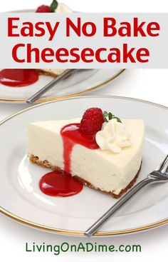 20 Of The Best Ever Homemade Pie Recipes This easy no-bake cheesecake recipe is an easy recipe to make delicious cheesecake with just 4 ingredients! It's easy and super yummy and sure to satisfy that cheesecake craving! Basic Cheesecake, Easy No Bake Cheesecake, Baked Cheesecake Recipe, Homemade Cheesecake, Homemade Pie, Cheesecake Bites, French Cheesecake, Raspberry Cheesecake, Cheesecake